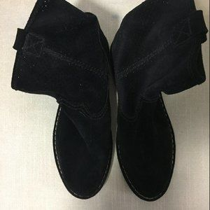 Clarks black suede boots.  Size 9.5